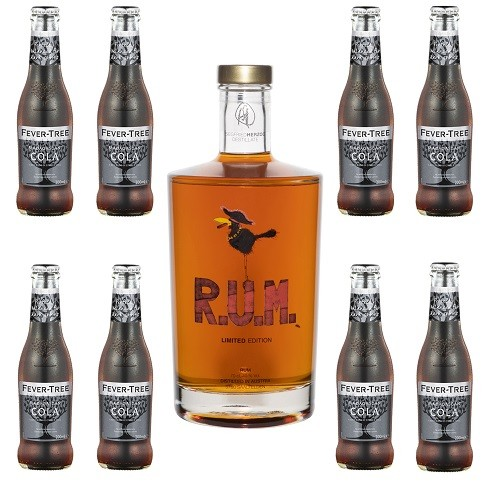 R.U.M. - Limited Edition 0,7 l + 8 x Fever Tree Cola 200 ml