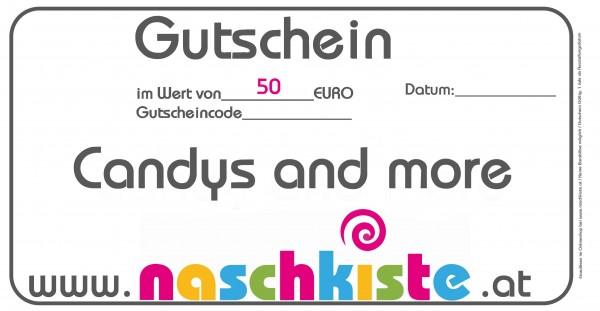 Geschenks-Gutschein 50€ Genuss-Gutschein von Naschkiste