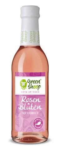 Bio Rosenblüten Sirup vom Hersteller Green Sheep Blüten zum trinken 250 ml