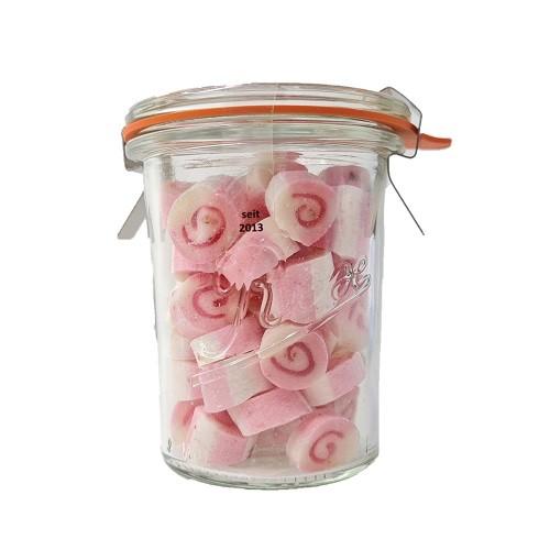 Erdbeere-Rosa Pfeffer Zuckerl im 90g Glas Bonbons von Nobnob Jetzt bei Naschkiste 4421 Aschach / Steyr
