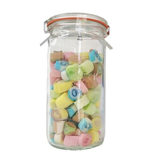Bunte Fruchte Bonbon-Mischung im Glas 200g Gemischtes Zuckerl Variation von Nobnob bei Naschkiste