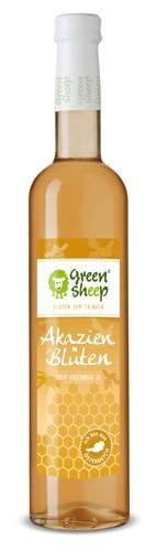 Bio Hollerblüten Sirup vom Hersteller Green Sheep Blüten zum trinken 500 ml Erfrischungsgetränk