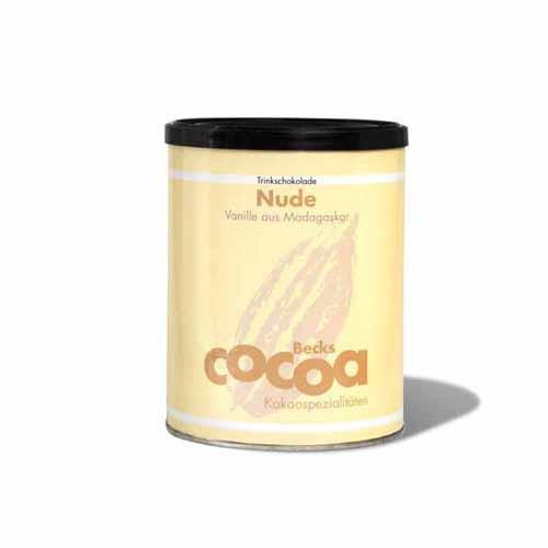 Bio Trinkschokolade Nude Vanille Kakao Spezialität Becks Cocoa