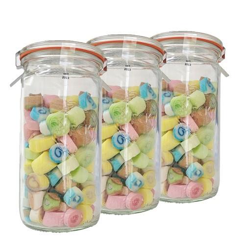 3x Bonbons im Glas Fruchtige Mischung, bunt gemischt Handgemachte Lutschbonbons von Nobnob