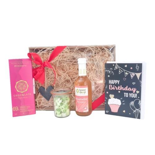 Birthday Box - Genuss Geschenks Box - Kulinarisches Nasch Set zum Geburtstag
