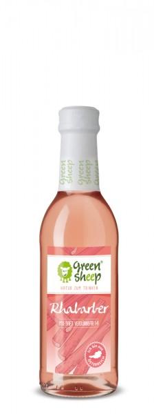 Rhabarber Mix Saft, Sirup von Green Sheep 250 ml Sommerlimonade Spritzig + Süß