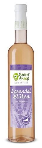 Bio Lavendel Sirup vom Hersteller Green Sheep Blüten zum trinken 500 ml Erfrischungsgetränk