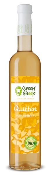 Quitten Sirup 500 ml von Green Sheep , Sommerlimonade Extra fruchtig Mix Saft Glasflasche