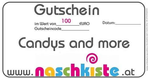 Geschenks-Gutschein 100€ Genuss-Gutschein von Naschkiste