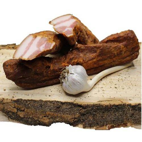 Knoblauch Renkerl aus Österreich Knoblauchspeck geräuchert Mühlviertler Speck