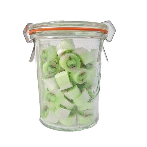 Grüne Apfel Bonbons im 90g Glas von Nobnob Zuckerl bei Naschiste in 4421 Aschach/Steyr